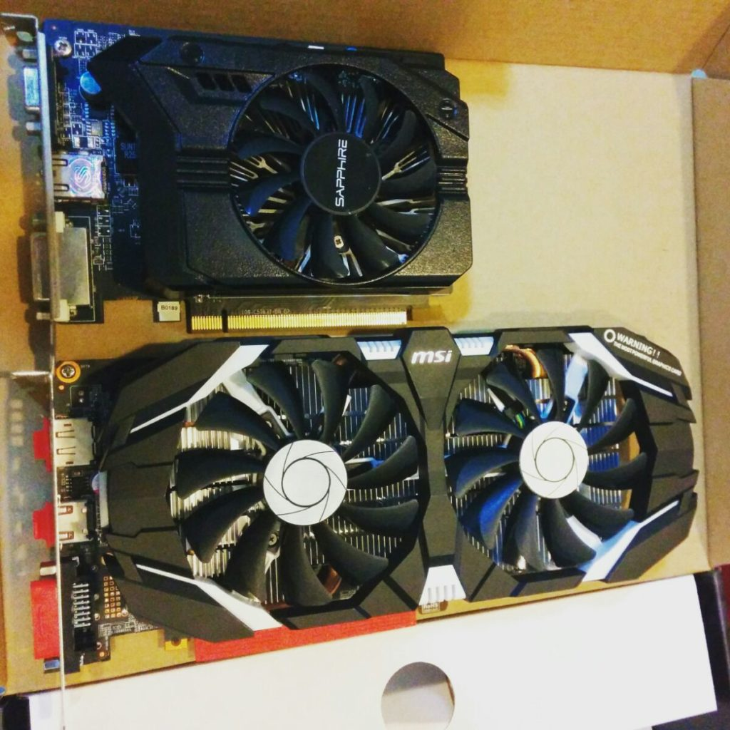 Sapphire r7 250 and MSI GTX 1060 6GT