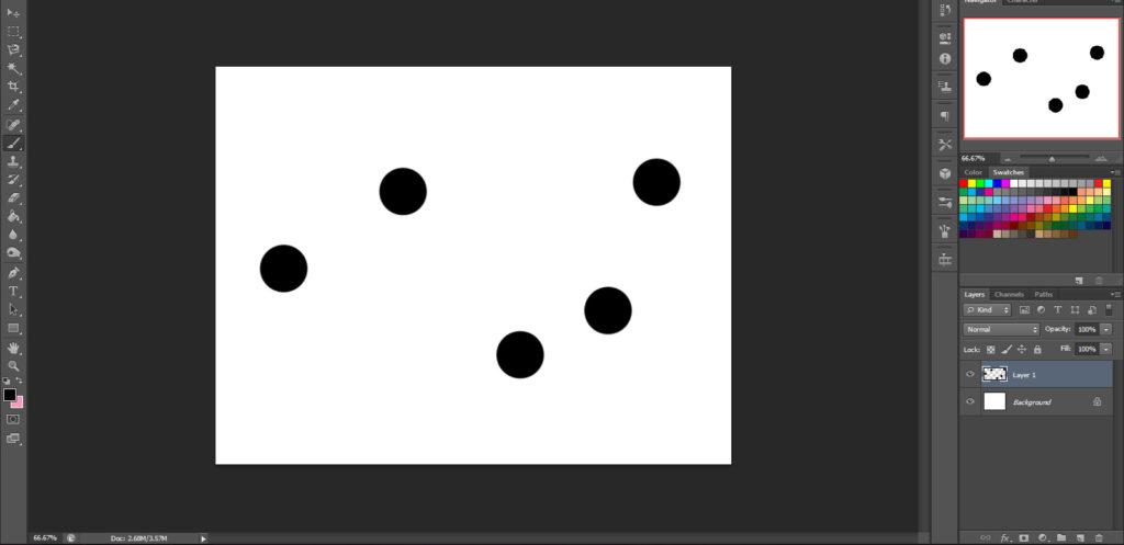 Dots for brush strand